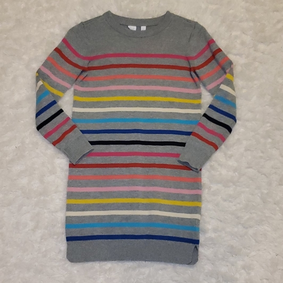 Gap Girls size Large Striped Rainbow Sweater Dress